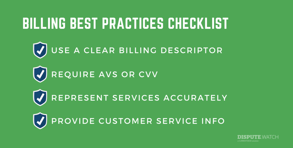 Billing best practices checklist