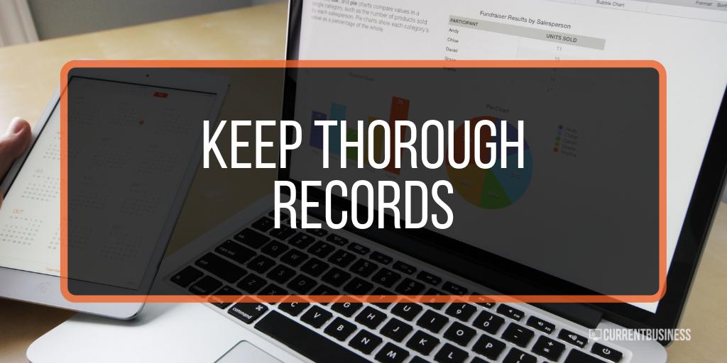Keep Thorough Records