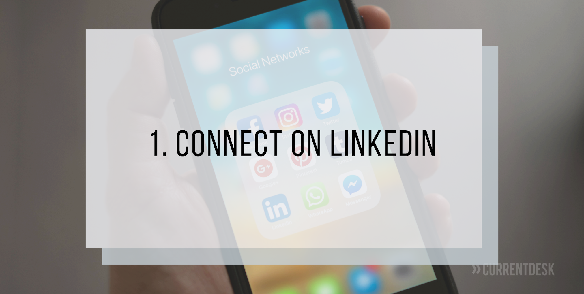 Connect on LinkedIn before iFX