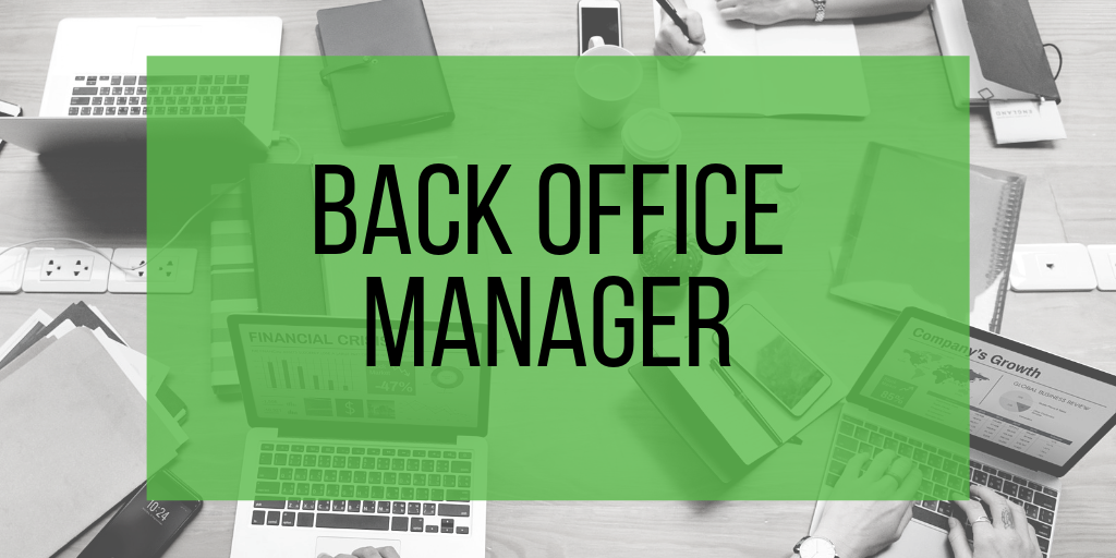 Back Office Manager