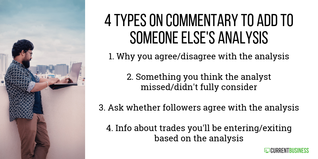 Tips for sharing someone else's analysis