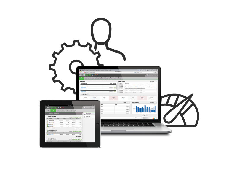 Forex CRM software on laptops showing faster lead processing